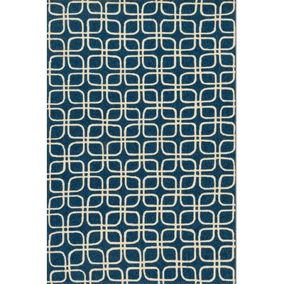 Venice Beach Handmade Blue/Ivory Indoor/Outdoor Area Rug