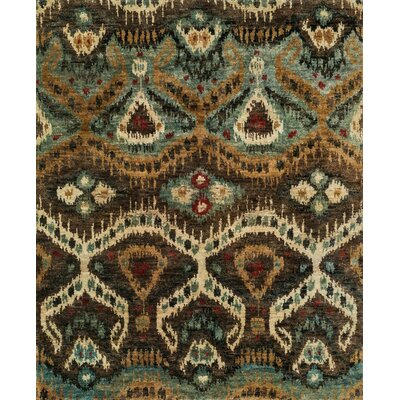 Xavier Hand-Knotted Taupe/Aqua Area Rug