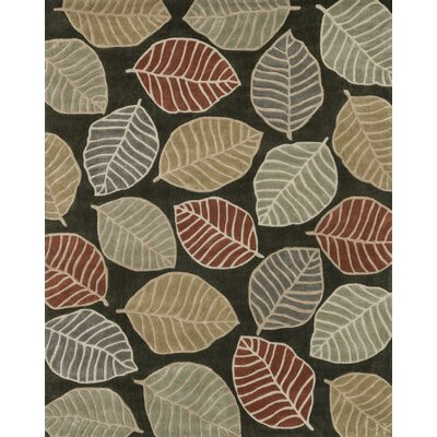 Hixon Hand-Tufted Brown Area Rug