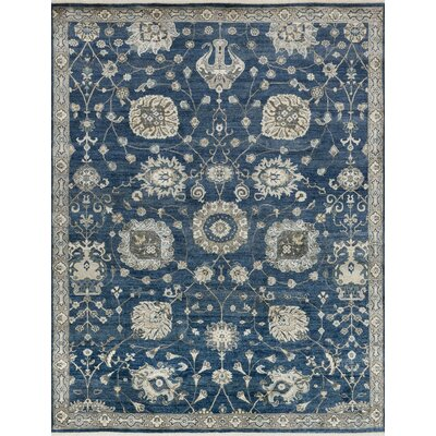 Kehoe Hand-Knotted Midnight Area Rug