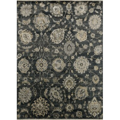 Kensington Hand-Knotted Charcoal Area Rug