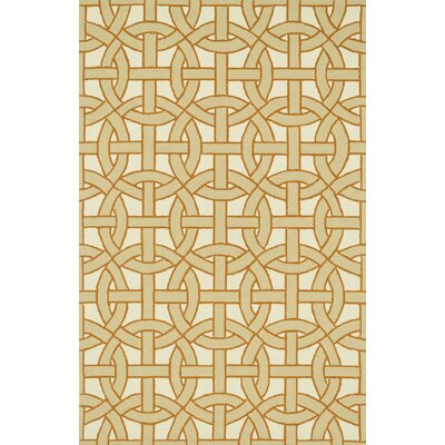 Palm Springs Hand-Woven Beige/Orange Area Rug