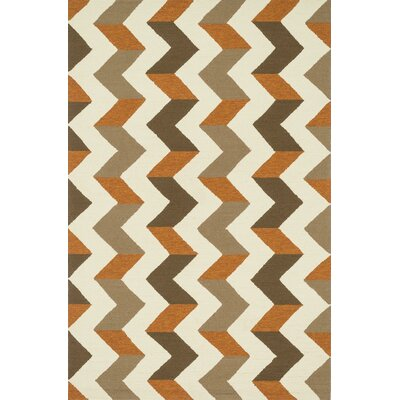 Palm Springs Hand-Woven Brown/Orange Area Rug
