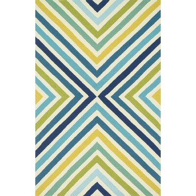 Palm Springs Hand-Woven Blue/Green Area Rug