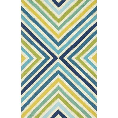 Danford Hand-Woven Blue/Green Area Rug