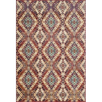Zazueta Red/Ivory Area Rug
