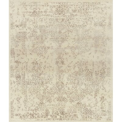 Pearl Hand-Knotted Antique Ivory/Taupe Area Rug
