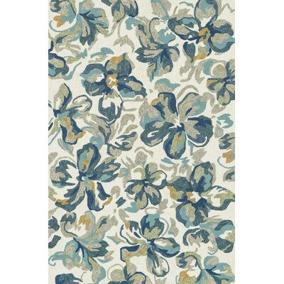 Tropez Hand-Woven Ivory/Blue Indoor/Outdoor Area Rug
