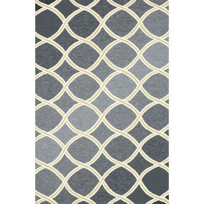 Venice Beach Handmade Charcoal Indoor/Outdoor Area Rug