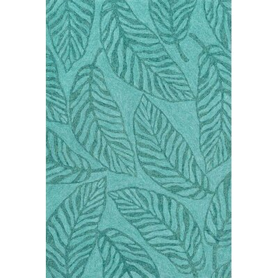 Tropez Hand-Woven Aqua Indoor/Outdoor Area Rug