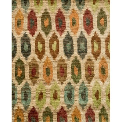Xavier Hand-Knotted Beige/Green Area Rug