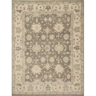 Vernon Hand-Knotted Smoke/Ivory Area Rug
