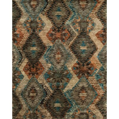 Xavier Hand-Knotted Tobacco/Blue Area Rug