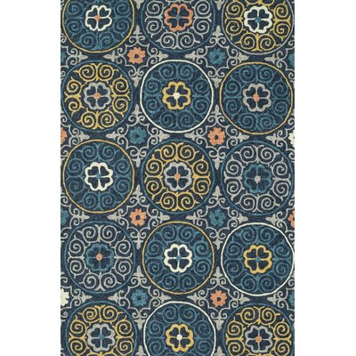 Kirshe Hand-Woven Navy Indoor/Outdoor Area Rug