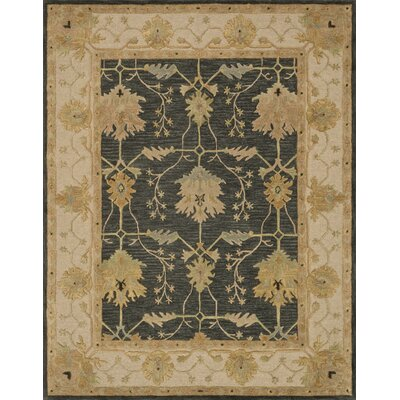 Kegler Hand-Tufted Charcoal/Oatmeal Area Rug