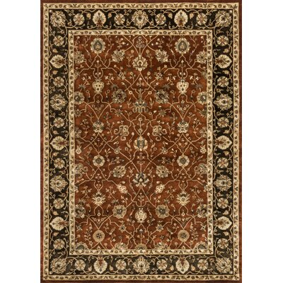 Yorkshire Hand-Tufted Rust/Expresso Area Rug