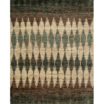 Xavier Hand-Knotted Pinebark Area Rug