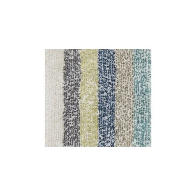 Happy Shag Hand-Tufted Gray/Blue Area Rug
