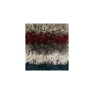 Kerstanski Hand-Tufted Gray/Red Area Rug