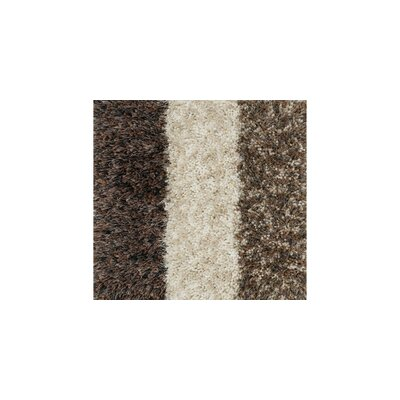 Callie Shag Hand-Tufted Brown/White Area Rug