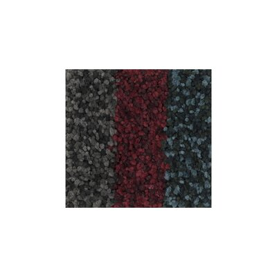 Olin Shag Hand-Woven Red/Gray Area Rug