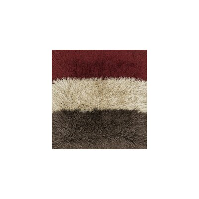 Hersi Hand-Tufted Red/Gray/Ivory Area Rug