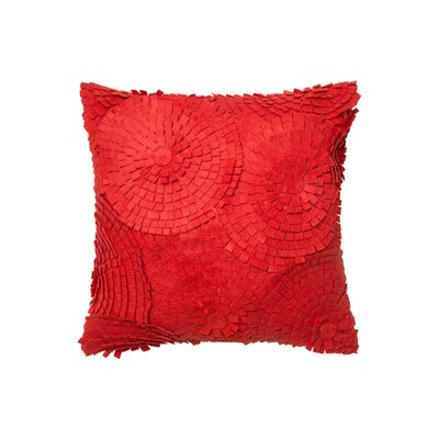 Cotton Throw Pillow Color: Red