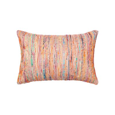 Cotton Lumbar Pillow Color: Rust