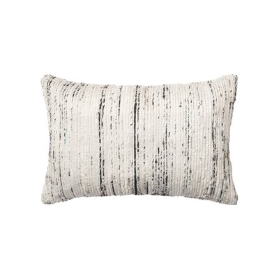 Cotton Lumbar Pillow Color: Silver