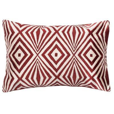 Lumbar Pillow Color: Red / Ivory