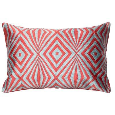 Lumbar Pillow Color: Coral / Teal