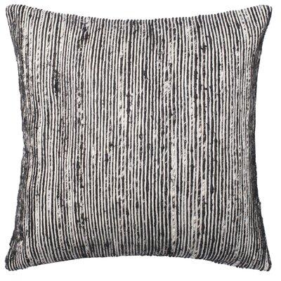 Strip Throw Pillow Color: Black