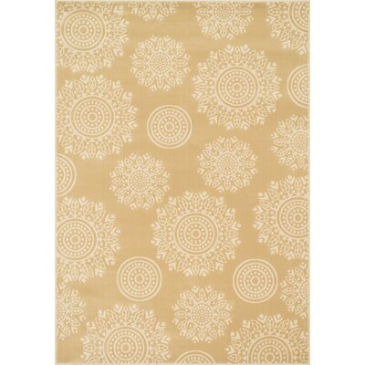 Goodwin Beige/Ivory Area Rug Rug Size: Round 77