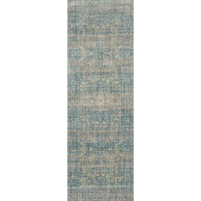 Jonas Teal Blue/Mustard Beige Area Rug Rug Size: Rectangle 27 x 4