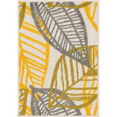 Terrace Ivory/Citron Area Rug Rug Size: 18 x 26