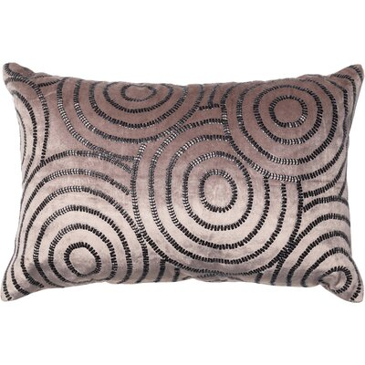 Lumbar Pillow Color: Charcoal/Black