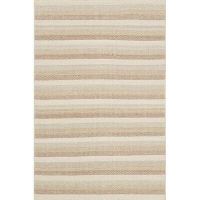 Quays Beige Area Rug Rug Size: Rectangle 23 x 39