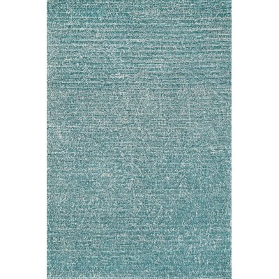 Happy Shag Hand-Tufted Blue Area Rug Rug Size: Rectangle 5 x 76