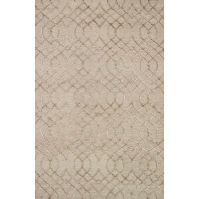 Kirkbride Taupe Area Rug Rug Size: Rectangle 3'6