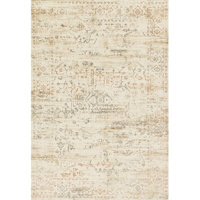 Kingston Cream Area Rug Rug Size: 27 x 39