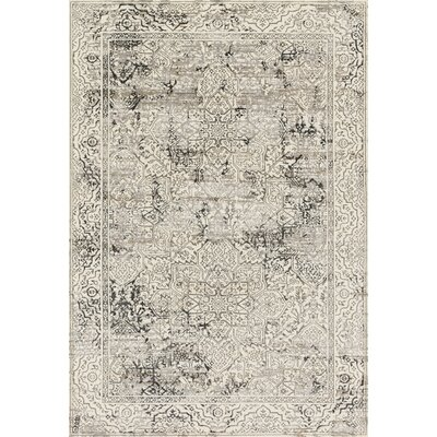 Kingston Ivory Area Rug Rug Size: Rectangle 53 x 76