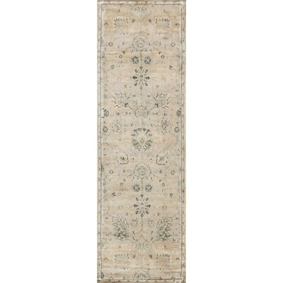 Keever Stone/Blue Area Rug Rug Size: Runner 24 x 79