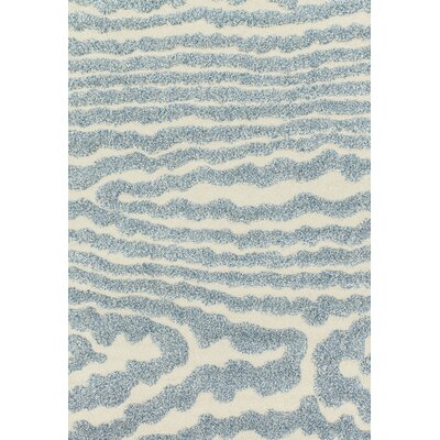 Enchant Ivory/Light Blue Area Rug Rug Size: 77 x 106