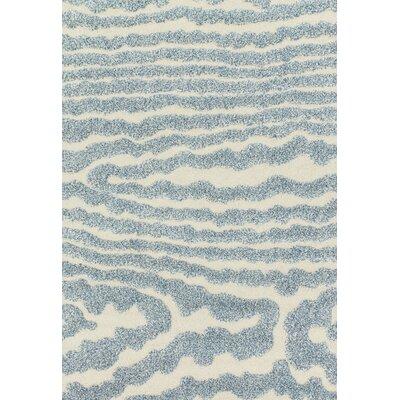 Dania Ivory/Light Blue Area Rug Rug Size: Square 77