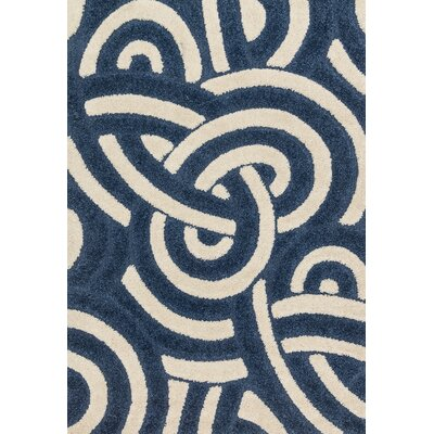 Enchant Navy/Ivory Area Rug Rug Size: 77 x 106