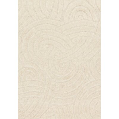 Enchant Ivory Area Rug Rug Size: 53 x 77