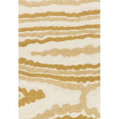 Enchant Ivory/Gold Area Rug Rug Size: 53 x 77