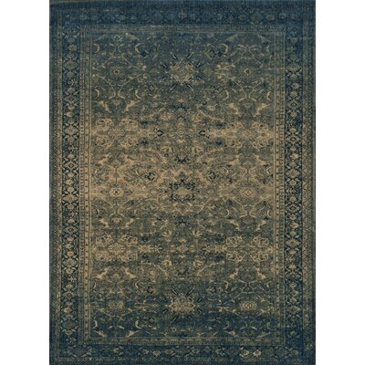 Stanley Hand-Knotted Denim Area Rug Rug Size: Round 5'2