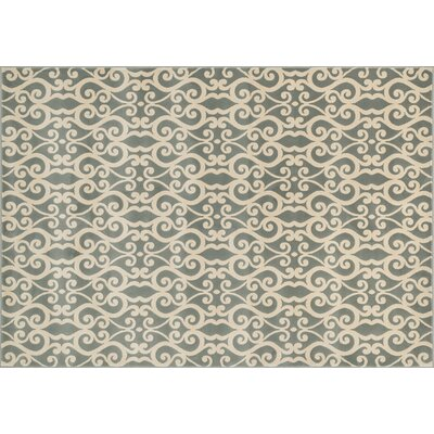 Shelton Mist/Ivory Area Rug Rug Size: Rectangle 23 x 39