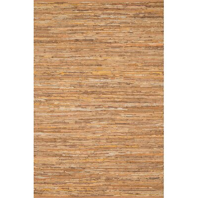 Kirkley Hand-Woven Tan Area Rug Rug Size: Rectangle 23 x 39